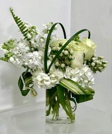 All white blossoms uniquely designed