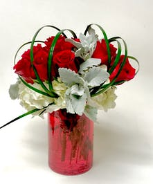 Lipstick & Roses by Mary Murray's Flowers