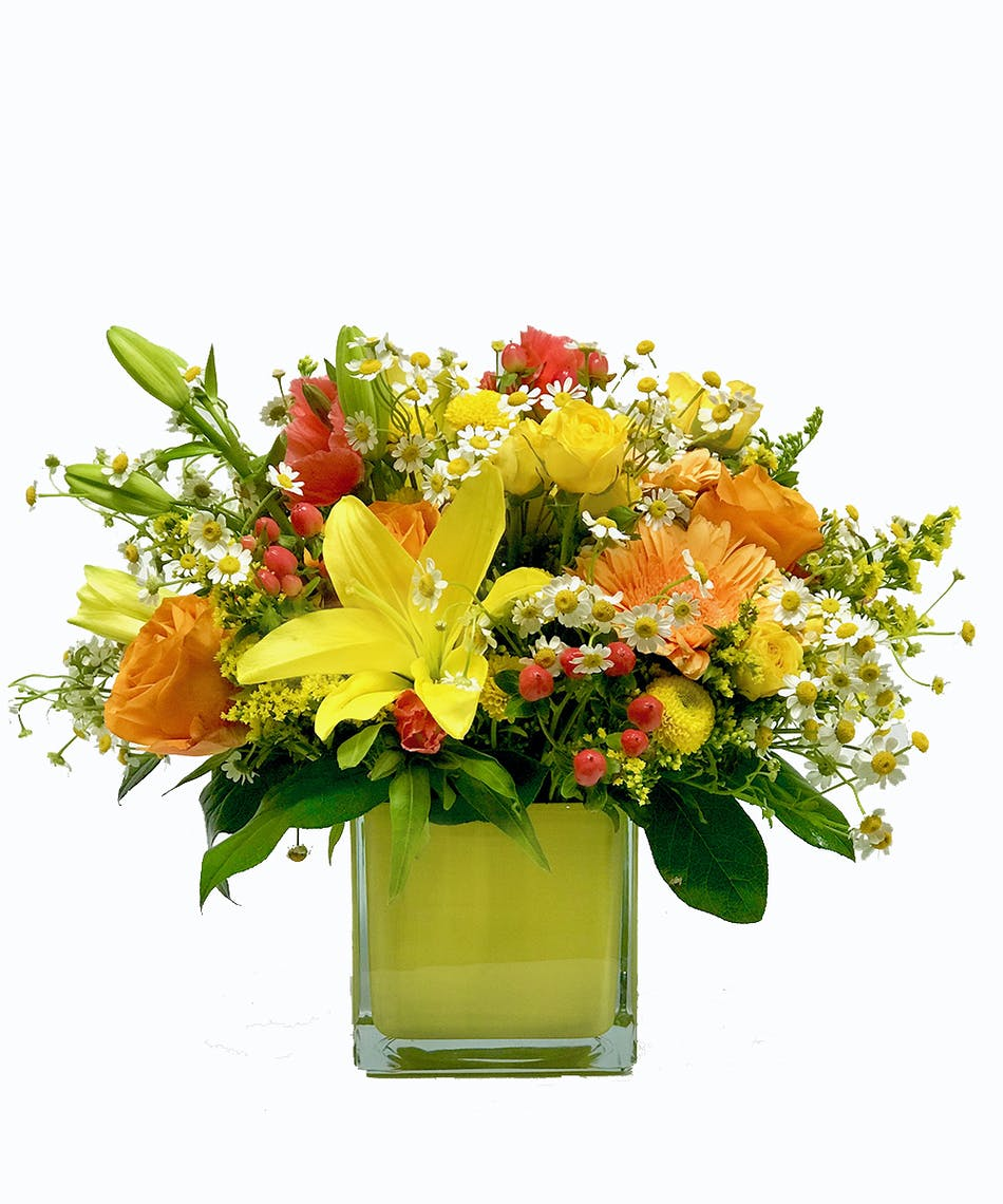 Little Mary Sunshine Spring Flower Bouquet Same Day Flowers Tulsa
