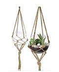 Macrame hanging plant