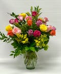 18 Rainbow Colored Roses
